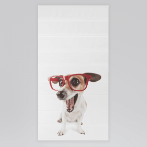 Roleta rzymska - DOG WITH RED GLASSES ON